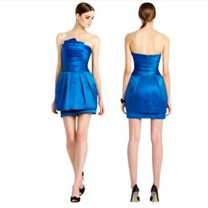 NWT BCBGMaxAzria Strapless Peplum Cocktail Dress